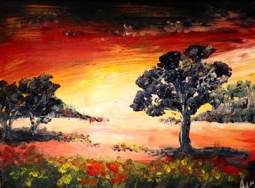 (Reapris 725kr) 30X40 Akryl Canvas. Pris 1450kr.