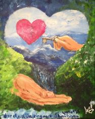 (Reapris 470kr) Akryl 24 X 30 Canvas
