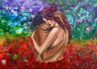 """Home"" 60x80 Akryl Canvas. Pris 2500kr."