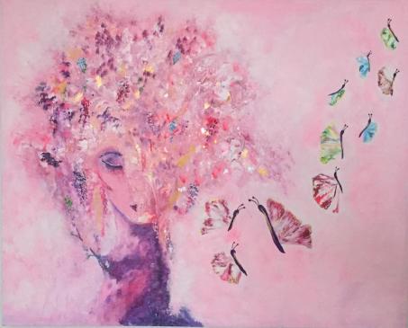 """Stillness"" 100x80x3 Akryl Canvas. 17 000kr."