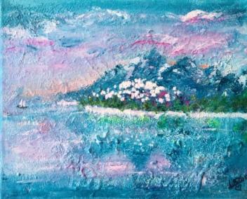 """Harmonia"" 30X24 Akryl Canvas. Pris 945kr."