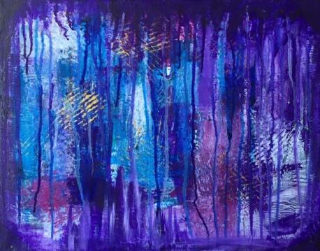 """La cueva"" 40X50 Akryl Canvas. Pris 2795kr."