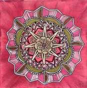 Mandala 20x20 Akryl Canvas. Pris 475kr. Går att beställa en personlig mandala där jag målar utifrån din energi. Pris: 600kr exkl budskap 950kr inkl budskap