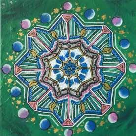 Mandala 20x20 Akryl Canvas Pris 475kr. Går att beställa en personlig mandala där jag målar utifrån din energi. Pris: 600kr exkl budskap 950kr inkl budskap