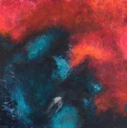 """Vamos"" 30x30x3 Akryl Canvas. Pris: 2300kr."