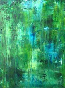 Grön abstrakt tavla